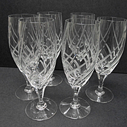 Mikasa Windless Pattern Set of Six Wine Goblets