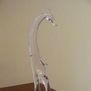 Heisey Tall Giraffe Figurine, Head Straight, Marked