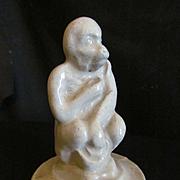 Stoneware Figural Monkey Figurine