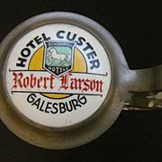 Hotel Custer Galesburg Illinois Stein