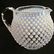 Fenton French White Opalesant Jug Pitcher