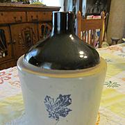 Western Stoneware Stenciled Handled Jug
