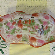 Oriental Geisha Girl Covered Box, Japan