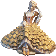 Royal Dux Lovely Lady Sitting with Book Porcelain Figurine