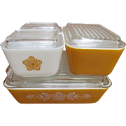 Pyrex Butterfly Gold 8pc Refrigerator Ovenware Set
