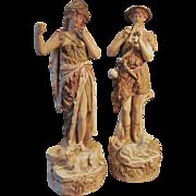Royal Dux Shepherd and Shepherdess Figurines #351