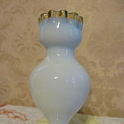 Victorian Gold Crest, Blue Cased Blown Vase