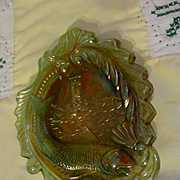 Millersburg Seacoast Green Carnival Pin Tray