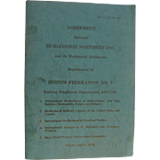 1970 Contract Agreement Between Burlington Northern Railroad and Its Mechanical Employees