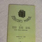 1964 Operators Manual for Vapor Locomotive Steam Generators