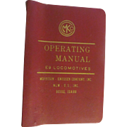 1973 Operating Manual for Burlington Northern E9 Locomotives, Morrison Knudsen Company Inc