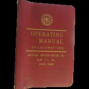 1973 Operating Manual for Burlington Northern E9 Locomotives, Morrison Knudsen Company Inc