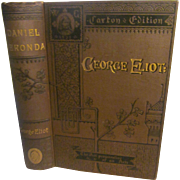 1883 Daniel Deronda by George Eliot, Caxton Edition, 8 Books