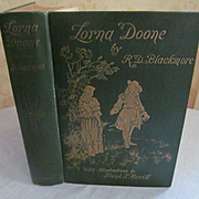 1893 Lorna Doone Vol 1 by R D Blackmore, Illustrated, Publ by Thomas Y Crowell Company
