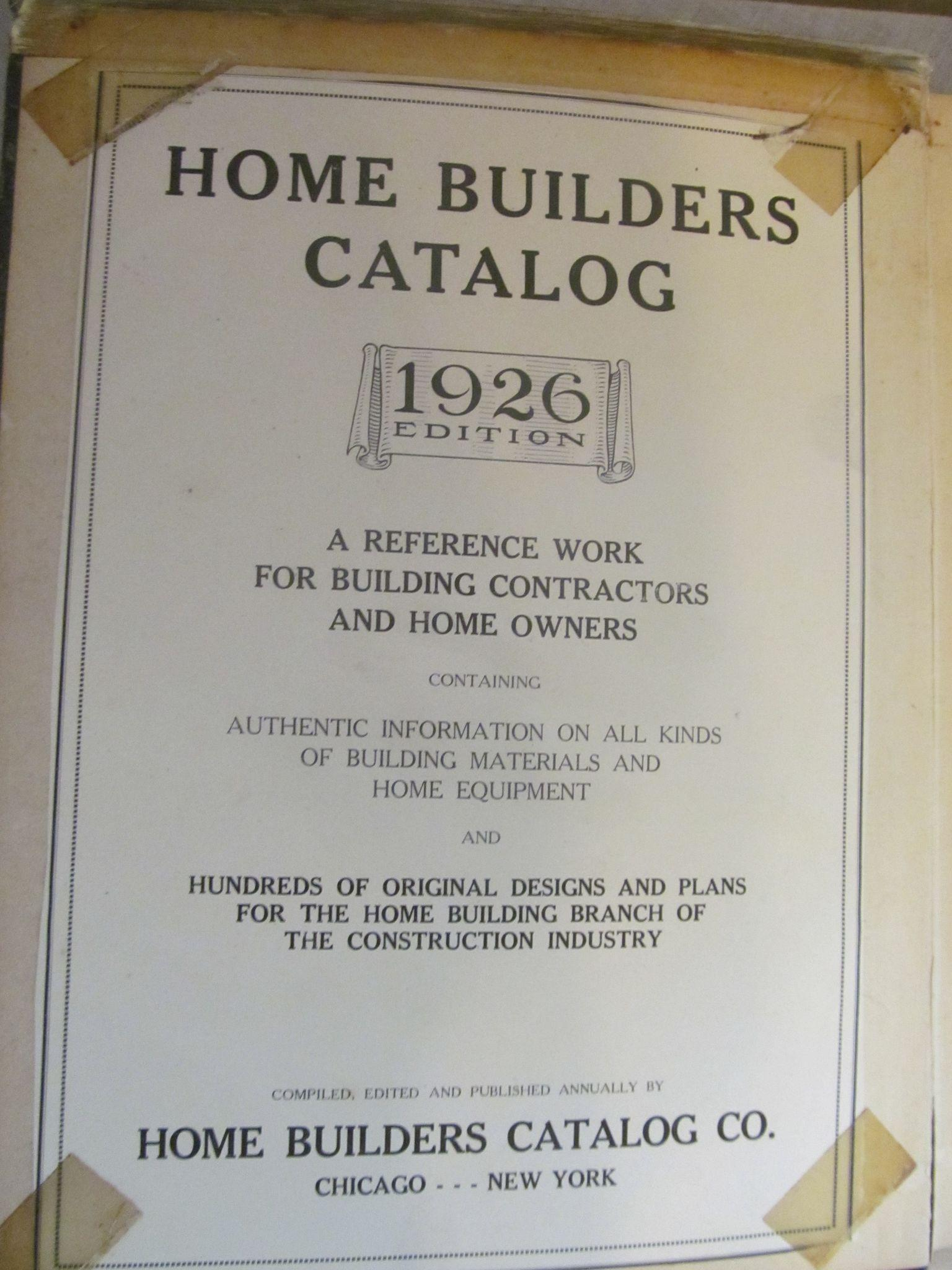 1926 Home Builders Illustrated Catalog for Building Contractors & Home Owners, Over 1000 Pages