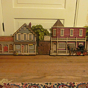 1975 Large Burwood Products Old West Town 3-D Wall Plaque Decor