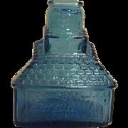 Blue Wheaton Glass Cabin Bank with TC Wheaton Advertising