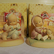 1994 Enesco Bless-Em Baby Figurines with Boxes and Paperwork, #523127 & #523232