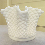 Westmoreland English Hobnail 6 Point Rose Bowl