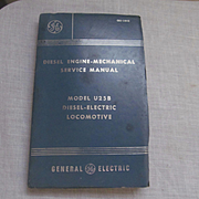 1965 Diesel Electric Locomotive Model U25Bi Service Manual by General Electric