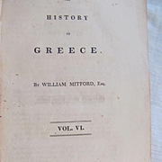 1823 The History of Greece by William Mitford, Volume 6,