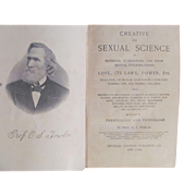 1870 Creative and Sexual Science by Fowler, Physical Culture Publishing Co
