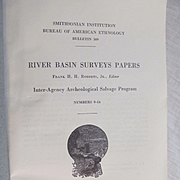 1958 Smithsonia Institution River Basin Surveys Papers Numbers 9-14 by Frank H H Roberts, Native Americans, Illustrated, Maps