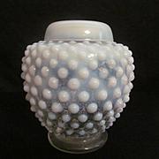 Fenton Opalesent Hobnail Ginger Jar