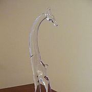 "Heisey Crystal 11"" Giraffe, Marked"