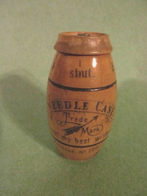 Germany Wood Stenciled Needle Case