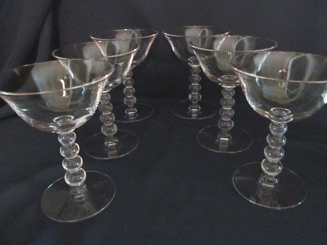 6 Candlewick Imperial 5oz Wine Goblets Stems