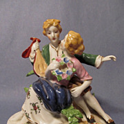 Large Colonial Couple Figurine