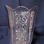 EAPG Hartley/Paneled Diamond Cut & Fan Celery Vase by US Glass