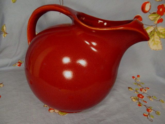 Yellow Ware Ball Pitcher with Rings