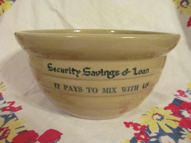 "Western Stoneware Advertising 8"" Mixing Bowl"