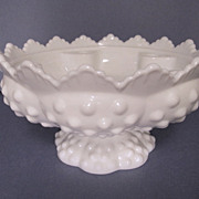 Fenton Hobnail Milk Glass Candle Holder