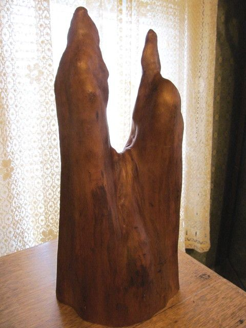 "Mid Century 17 1/2""  Cypress Wood Root Decorative Piece"