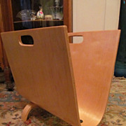 Cool Mid Century Molded Plywood Magazine Rack
