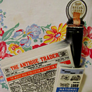 1968 Antique Trader,Directory of Antique Dealers, Kewanee IL  Advertising Beam Bottle, Regal China