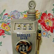 1968 Advertising Harold's Club, Reno Nevada Casino Slot Machine Beam Bottle, Regal China