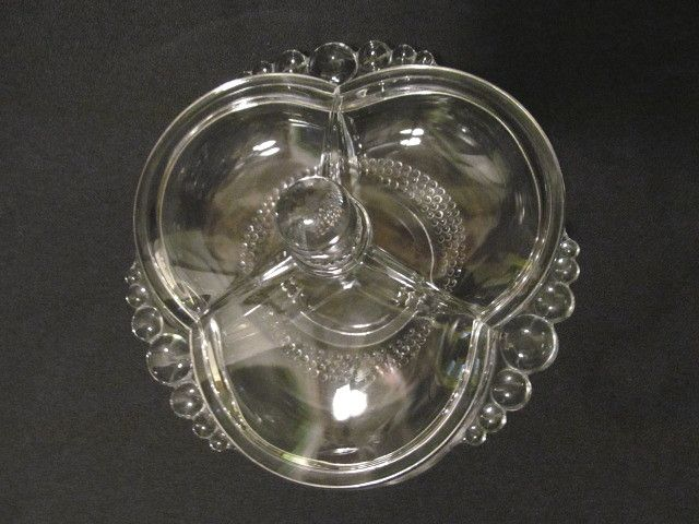 Duncan Miller Tear Drop 3pt Covered Candy Dish