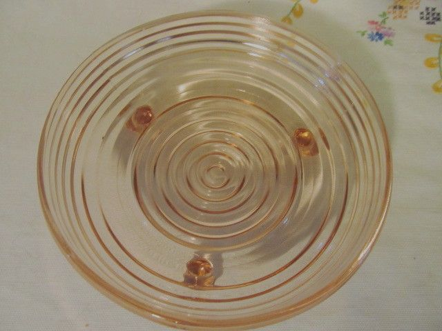 Pink Manhattan Footed Candy Dish, Anchor Hocking