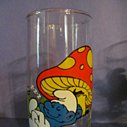 1982 Smurf Lazy Character Glass, Peyer, Wallace Berrie