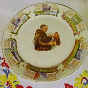 1910 Calendar Plate,Monk, Steubenville
