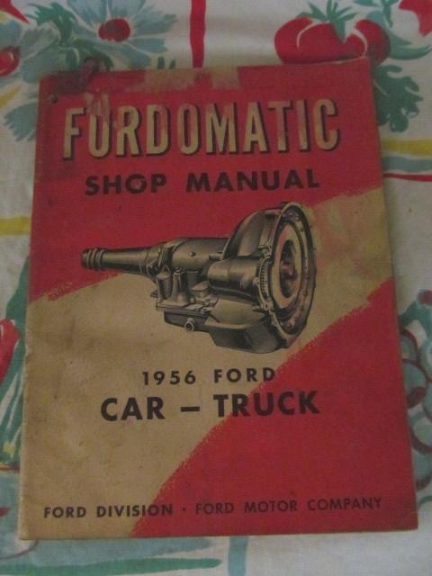 1956 Ford Car & Truck Shop Manual