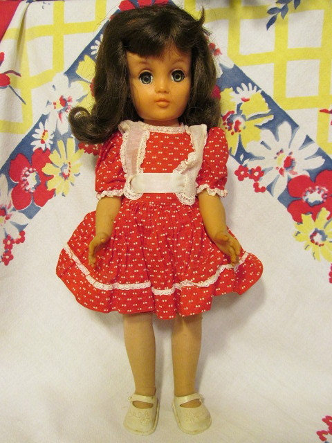 "Ideal P-90, 14"" Brunette Doll"