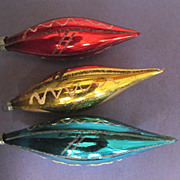 3 Teardrop Mercury Christmas Ornaments