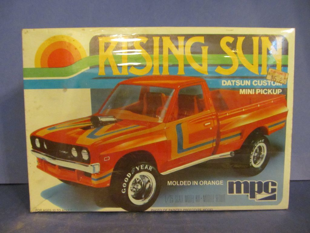 1980 Sealed MPC Rising Sun Datsun Custom Pickup Truck 1/25 Scale Model Kit