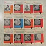 1957 Workbasket Needlecraft Magazine,Complete Year, 12 Issues