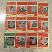 1954 Workbasket Needlecraft Magazine,Complete Year,12 Issues